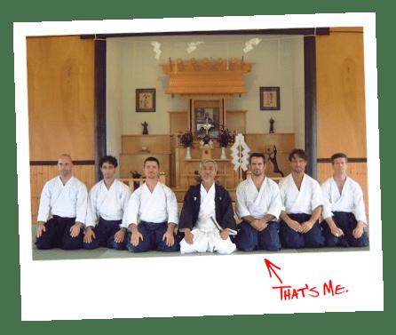 Stewart Breeding in martial arts class