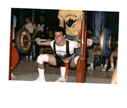 S2 Method Stewart breeding performing squats in competition at age 15