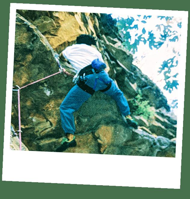 S2 Stewart Breeding climbing a mountain
